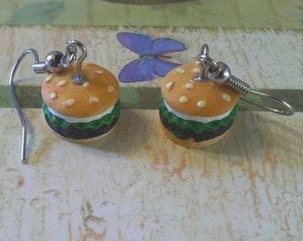 On Sale 30% off Cheeseburger Dangle Earrings