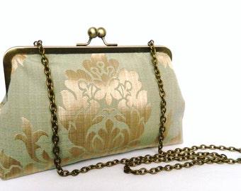 Clutch Purse, Metallic Design Clutch Purse, Evening wear, Bridesmaid Clutch Purse