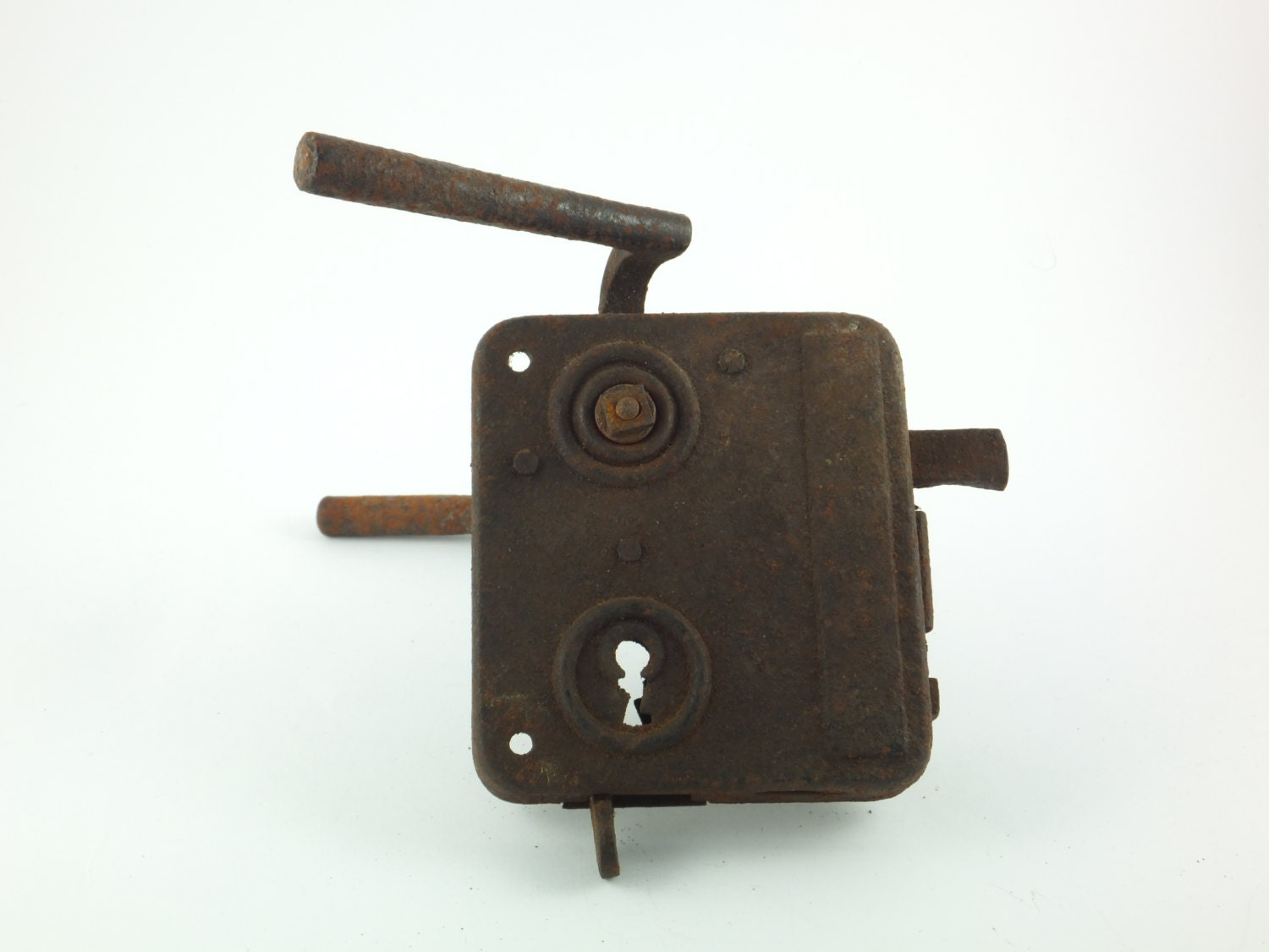 rusty antique vintage door lock rusted 1920s 1930s by
