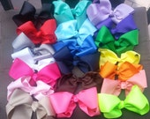 Large grosgrain hair bow 5.25 inch