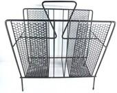 RETRO MAGAZINE RACK, atomic rack, organizer, craft rack, towel holder, bathroom decor,magazine holder,