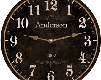 Family Name Clock. Personalized Family Name Clock