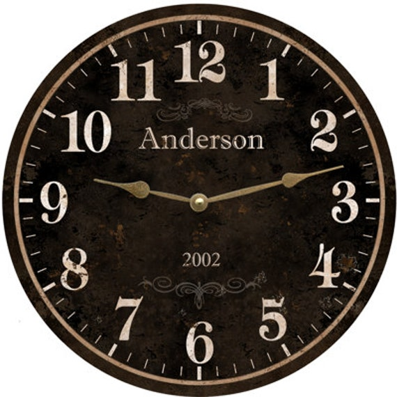 Family Name Clock Personalized Family Name Clock