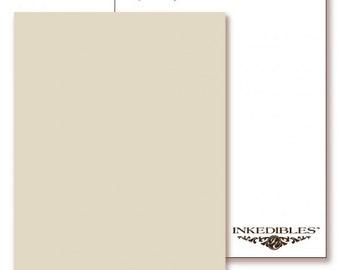 Inkedibles Premium Frosting ChromaSheets: 5 pack Letter Size (Beige)