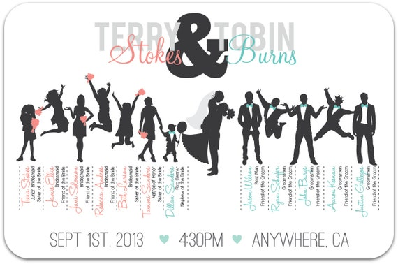 ... For Wedding Party Silhouette Program... Bride And Bridesmaid Clipart