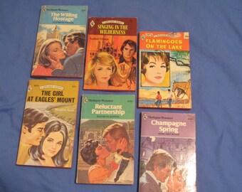 Harlequin Romance VTG 1970s Classic Novels Travel, Adventure, Love Stories (Set 5)