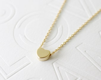 Heart necklace // Gold