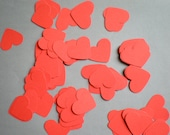 Love Red Hearts Confetti - Hand Punched, Passionate, Romantic Decorations for Your Wedding Day - Colors Available