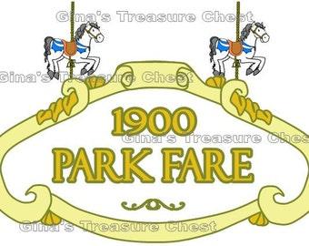 Disney Grand Floridian 1900 Park Fare Scrapbook Paper Piece Piecing