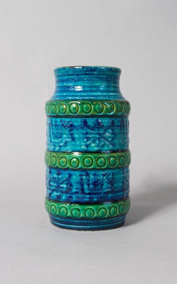 vintage vase bay west germany retro art pottery by ...