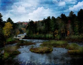 Michigan Photography, Michigan Photo, Michigan,Tahquamenon Waterfalls, Autumn, Fine Art Print, Art, Tree Photography, Woodland Photography