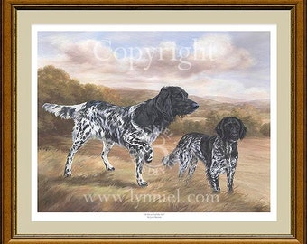 MUNSTERLANDER'S limited edition dog print 'At the end of the day'