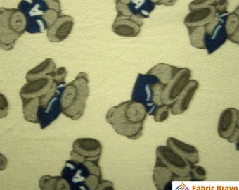 Fleece fabric bear etsy for Moon and stars fleece fabric