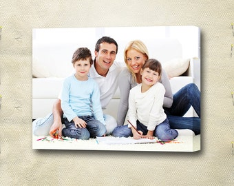 Custom Family Photos on Canvas - Gallery Wrapped - Ready to hang - Perfect Gift for any Occasion -  LIFE TIME PRODUCT.