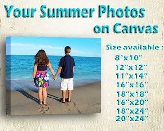 Custom Photo Canvas Print -  Gallery Wrapped  - Ready to hang - Perfect Custom Wall Decor -  LIFE TIME PRODUCT.