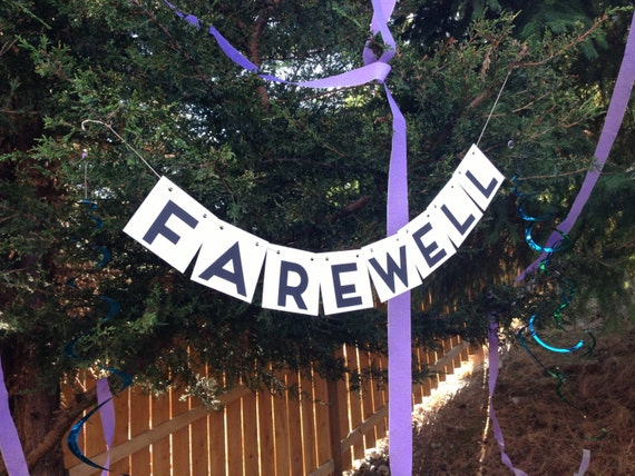 Items Similar To Farewell Banner Going Away Party Bon
