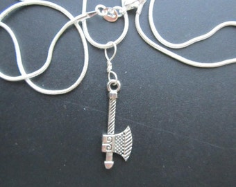 VIKING AXE PENDANT on Sterling Silver Chain - Just For Fun!!!!!!!
