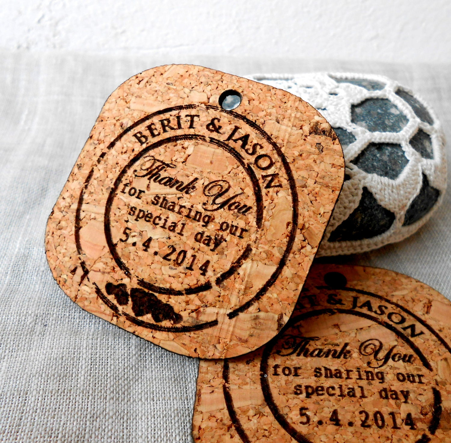 Rustic wedding favor tags thank you tags wedding favor tags