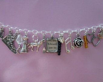 Design Your Own - Twilight-Inspired Charm Bracelet - 10 Charms - 37 to Choose From!