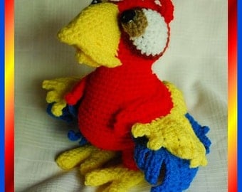 Pedro the Crocheted Parrot