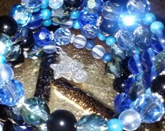 Memory Wire Bracelet~Crystal Bracelets~Autism Bracelet~Autism Awareness Bracelet~SomethingXquiste Jewelry~Custom Jewelry~HandMade Jewelry