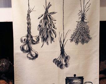 Italian Herb Tea Towel 48cm x 81cm.