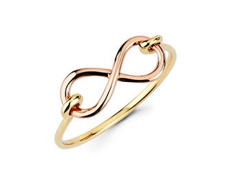 Infinity, Infinity ring, gold infinity, infinity jewelry, dainty jewelry, knuckle ring, love
