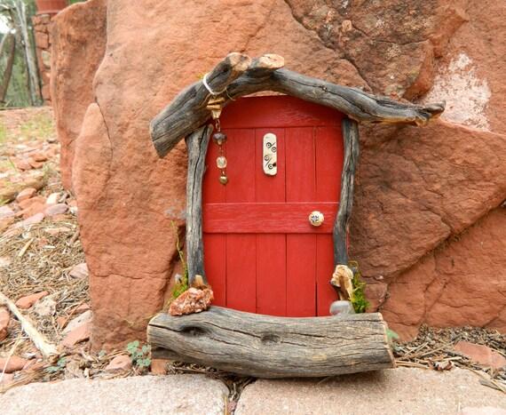 Red sedona fairy door by sedonafairydoors on etsy for Red elf door