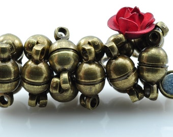 20 Sets of Antique brass coating Magnetic Clasp in 5mm wideX 10mm length