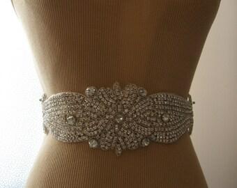 SALE / Wedding Belt, Bridal Belt, Sash Belt, Wedding Sash, Bridal Sash, Belt, Crystal Rhinestone