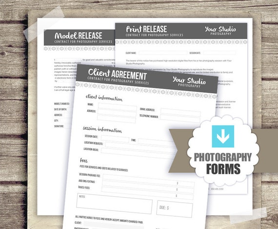 Photography Business Forms Kit Client By StudioTwentyNine On Etsy