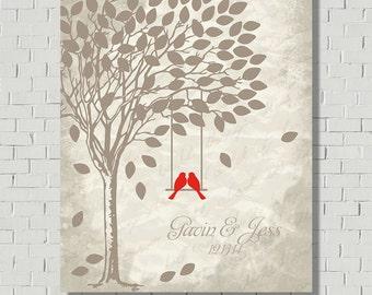 Wedding Tree - Wedding Tree Keepsake - Wedding Guest Book Alternative - Guest Book Print - Wedding Tree - Wedding Poster - Guest Book Print