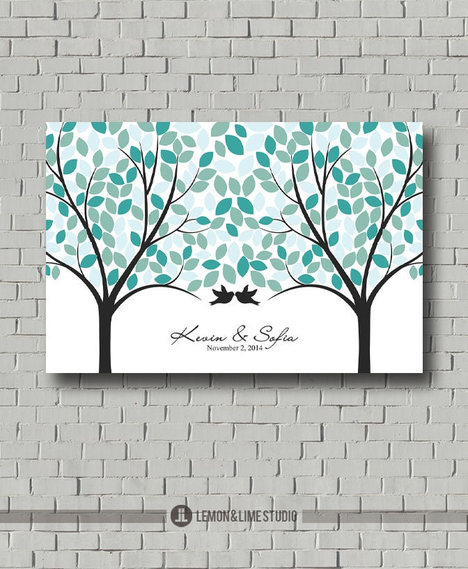 Guest Book Printing: Wedding Guest Book Tree Wedding Tree Guest Book Print