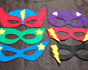 Superhero mask set of 18 masks