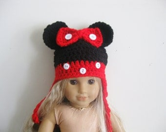 "18"" American girl doll Mickey mouse bow hat"