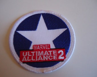 New Marvel Ultimate Alliance Red White & Blue Logo SHIELD Avengers Souvenir Embroidered Fabric Patch