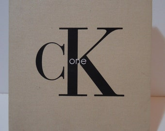Vintage 90s Calvin Klein Cosmetics Original CK One Perfume Gift Box Fashion Beauty Souvenir Retro Collectible