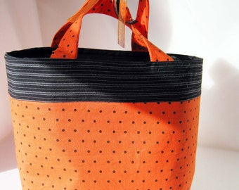 Halloween Gift Bag or Trick or Treat Bag - Polka Dots
