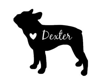 Personalized French Bulldog Decal - Frenchie Car Decal - Love Frenchies - Yeti Decal