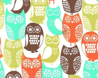 Woodcut Owl Fabric