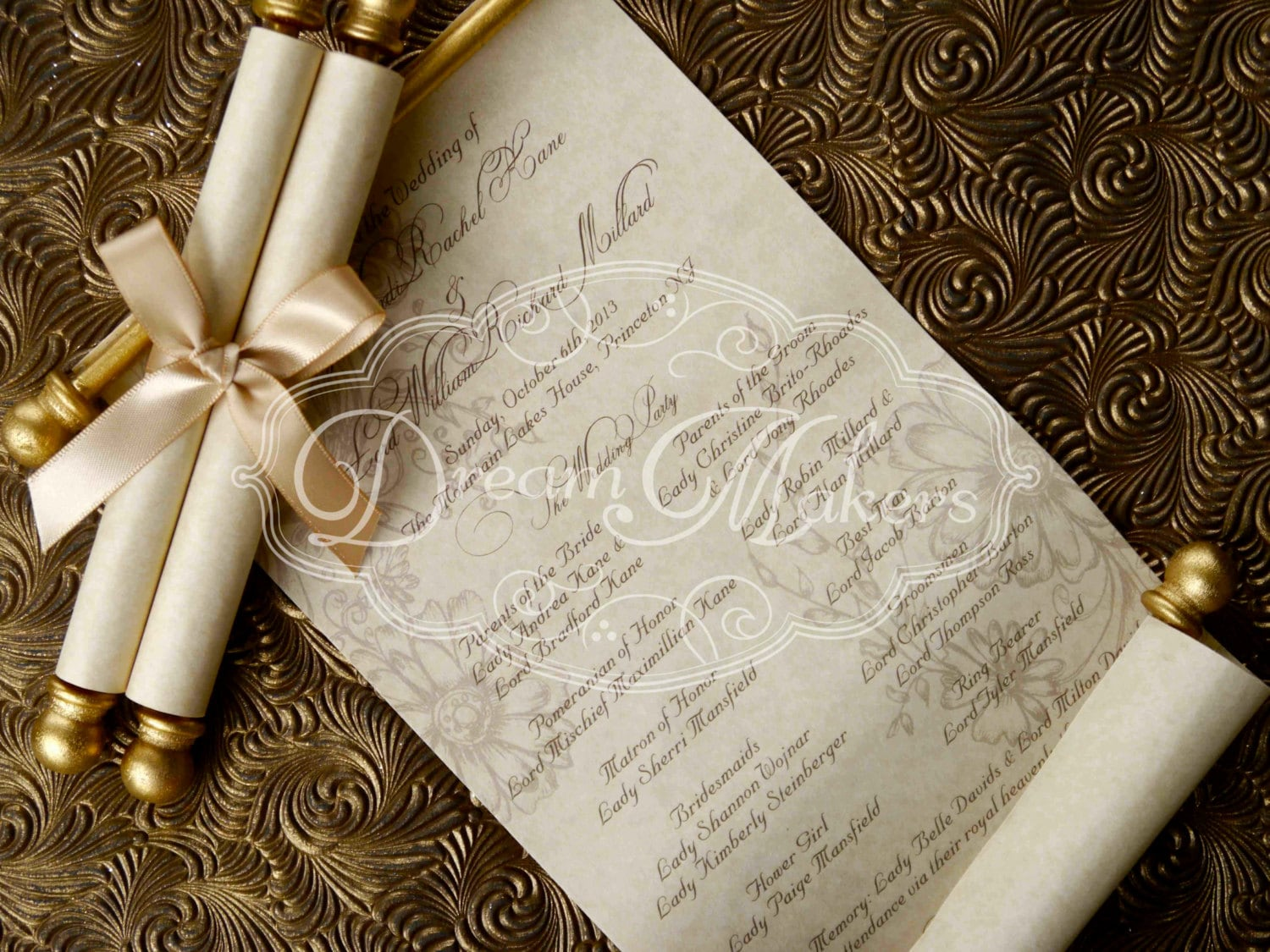 Diy Scroll Wedding Invitations: Scroll Wedding Programs