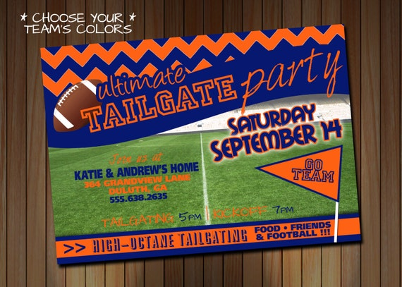 Tailgate Themed Party Invitations All The Best Gate In 2018