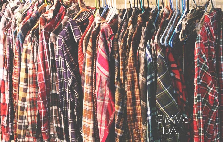 70s 90s vintage flannel shirts worn grunge by gimmedatvintage