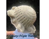 Crochet Hat Pattern Summer Sun Hat  Newborn to Adult - INSTANT DOWNLOAD PDF Pattern -