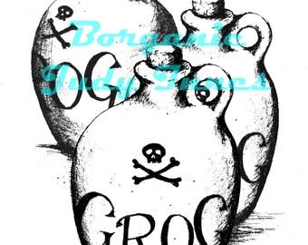 Drunk pirate | Etsy