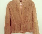 SALE vintage boho chic women's fur coat