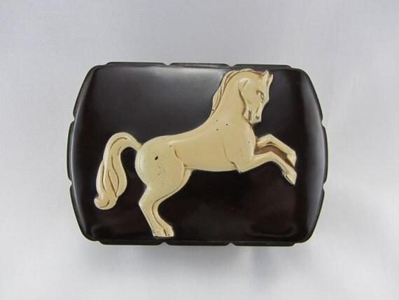 Vintage Bakelite Hickok Box 1940 S Dresser Box With Horse