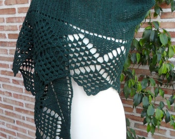 Pattern Pdf Shawl Verdemar crochet