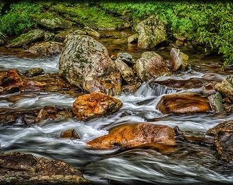 Mountain Stream Rushing After Heavy Rain E134