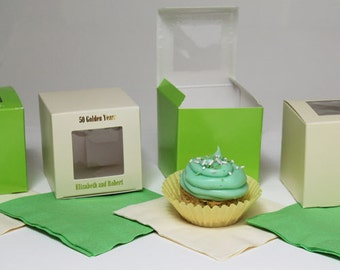 """Cupcake Boxes~25 Personalized 3""""x3""""x3"""""""